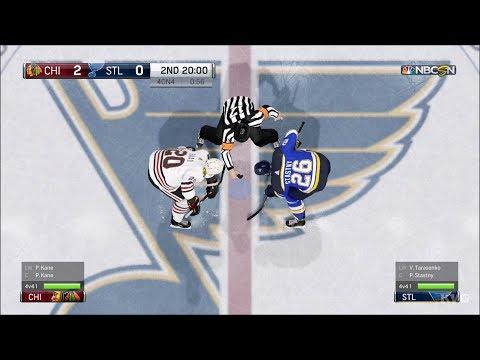NHL 18 - St. Louis Blues vs Chicago Blackhawks - Gameplay (HD) [1080p60FPS]