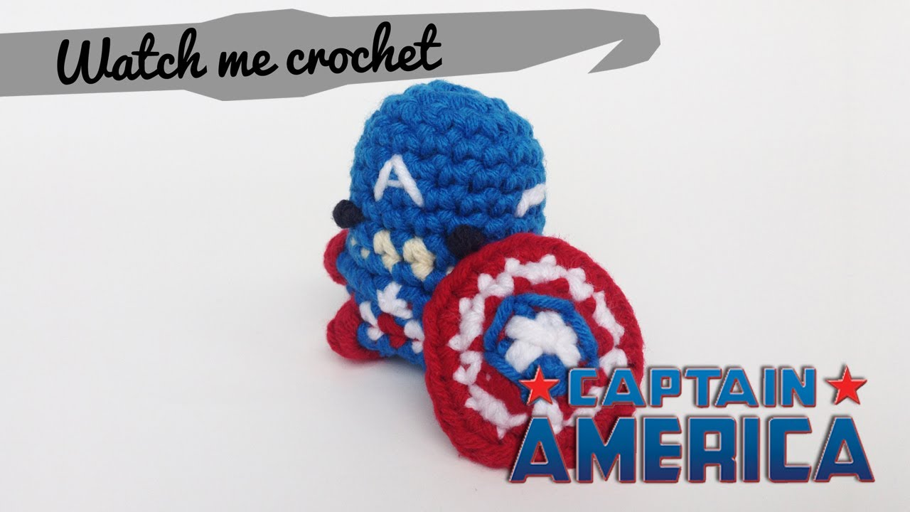 Watch me Crochet: Captain America - YouTube
