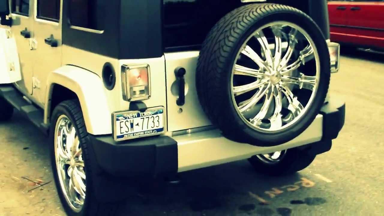 Jeep Wrangler Soft Top >> jeep wrangler unlimited 24's jeep wrangler sahara dubs - YouTube