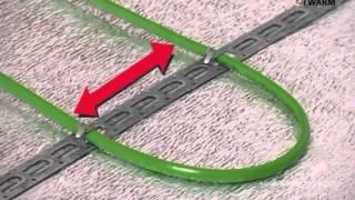видео Монтаж теплого пола - технология, монтажная лента и система
