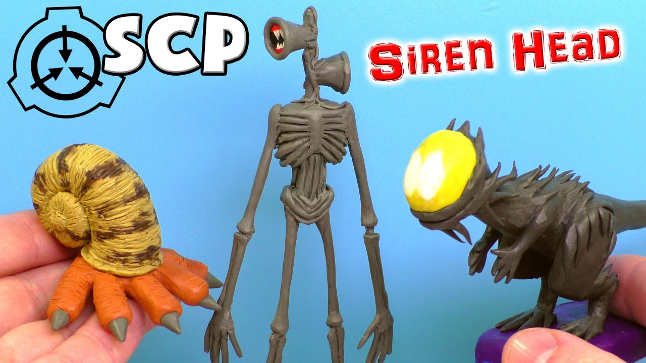 Making Siren Head Scp 745 And Scp 075 With Clay Youtube