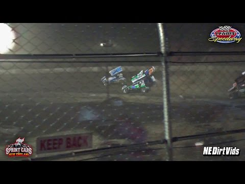 Highlights: Sprint Cars of New England | Legion Speedway 8 5 2016