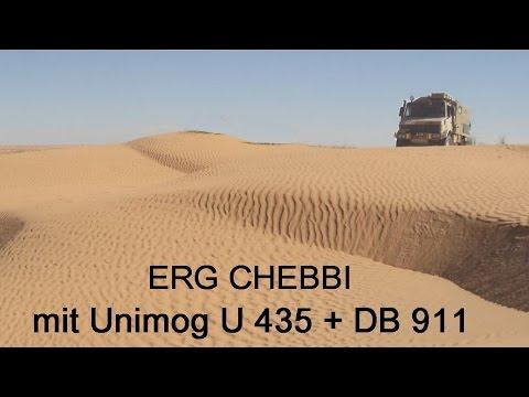 Marokko-4- Erg Chebbi mit Unimog 1300L + Mercedes 911