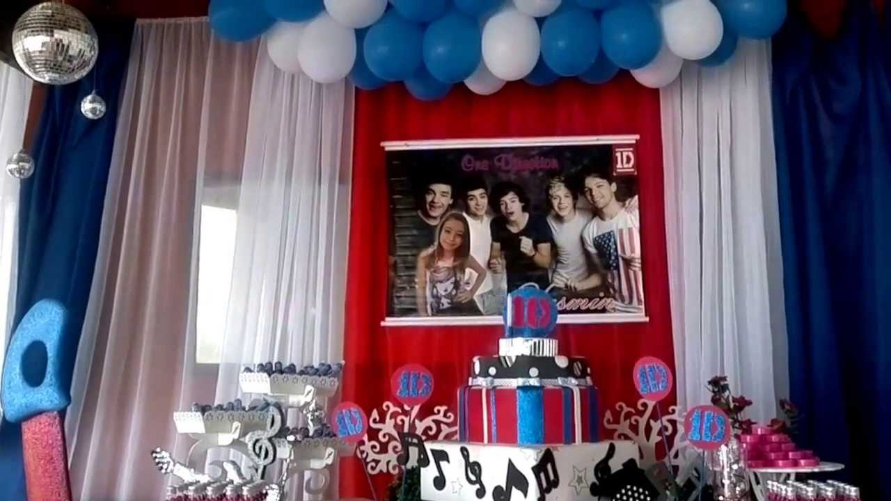 One Direction Bedroom Decor Decoraassalbo Tema One Direction Youtube