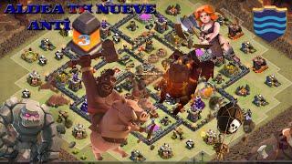 Diseño de aldea anti 3 estrellas ayuntamiento 9 Clash of Clans