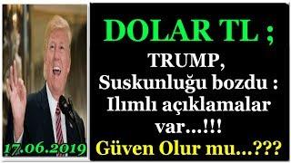 dolar tl s400 trump suskunluunu bozdu