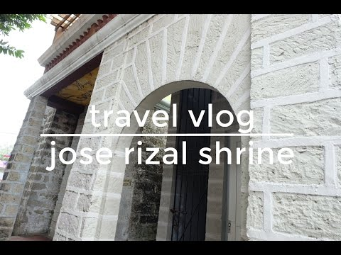 ONE MINUTE TRAVEL VLOG: JOSE RIZAL SHRINE
