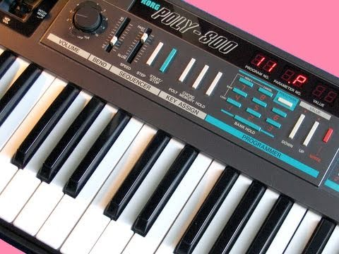 KORG POLY-800 Analog Synthesizer 1984 | DEMO | NEW PATCHES