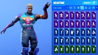 BRITE GUNNER SKIN SHOWCASE WITH ALL FORTNITE DANCES & EMOTES