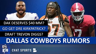 Cowboys Rumors: Dre Kirkpatrick? Draft Trevon Diggs? Dak Worth $40 MM? 3-4 Defense? Chidobe Awuzie?