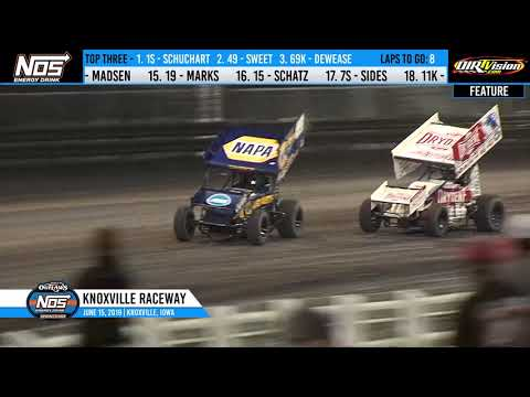 Knoxville Raceway World of Outlaws Highlights - June 15, 2019