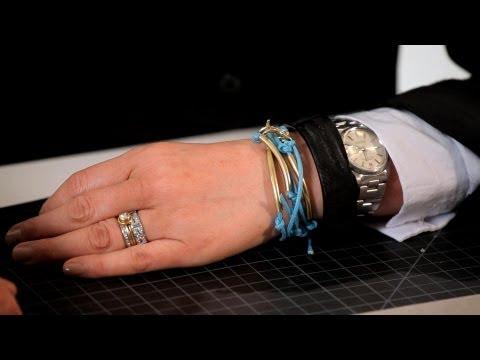 Leather Cord & Brass Tube Bracelet | Making Jewelry