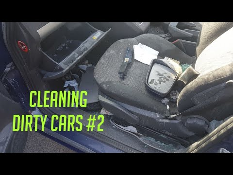 Cleaning a really dirty vauxhall car
