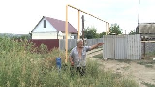 В Волгоградской области дачный участок «нарезали» на газопроводе