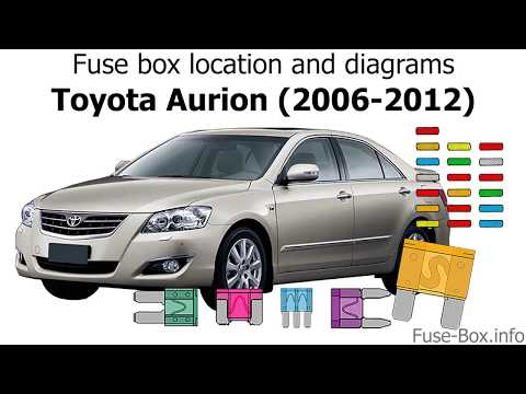 fuse box location and diagrams toyota aurion (2006 2012 2008 Toyota Tacoma Fuse Diagram