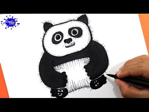 How to draw Po Kung fu panda 3/ Como dibujar a Po kung fu panda 3 ...