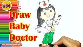 How to draw Baby Doctor coloring page, Drawing tutorials #65
