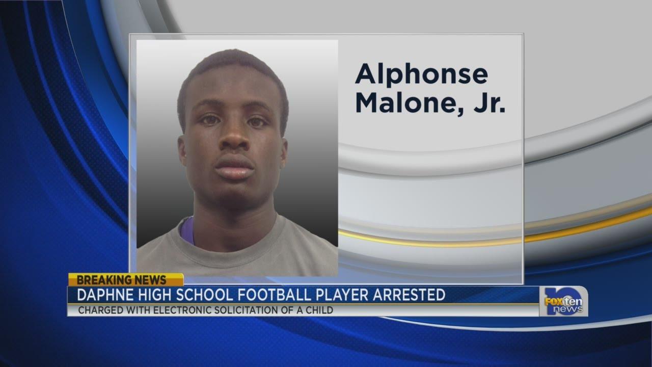 Daphne High School football player arrested - YouTube