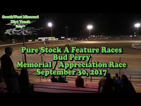 Pure Stock A Feature Races Bud Perry Memorial   Appreciation Race September 30, 2017