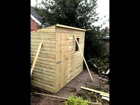 8 x 5 pent garden shed from duchy farm kennels - Garden Sheds 8 X 5