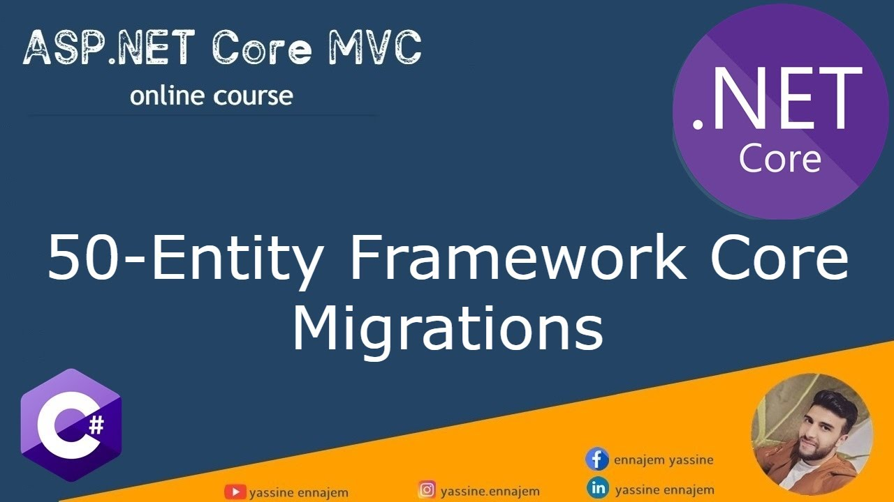 50. Entity Framework Core Migrations in ASP.NET Core  Darija Arabic