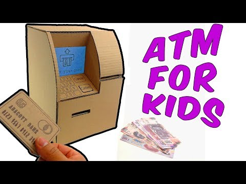 How to make an ATM from Cardboard for Kids