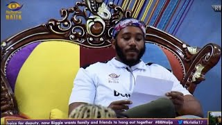 BBNaija! KIDDWAYA IS NEW HEAD OF HOUSE, CHOOSES TOLANIBAJ AS DEPUTY| BIG BROTHER GOES ON LEAVE