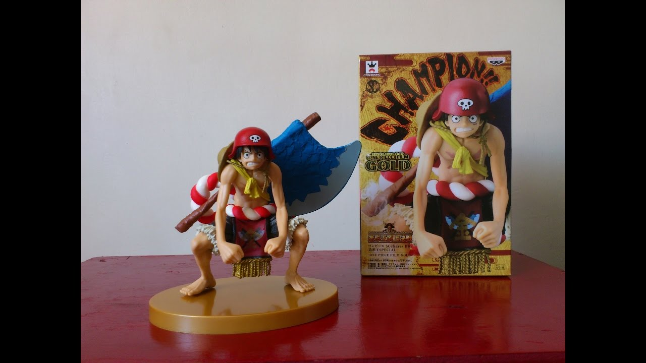 One Piece Luffy Scultures Big Special Film Gold