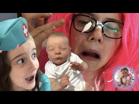 REBORN VOMITS and PEES on NEW PARENTS *REBORN HOSPITAL ROLEPLAY*