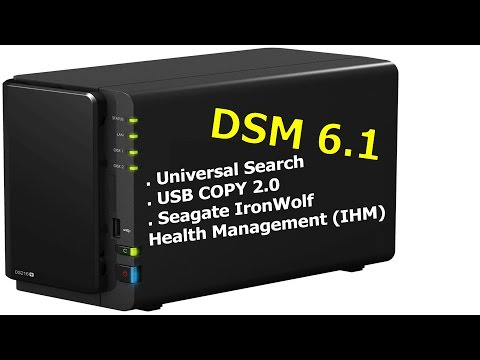 Synology Diskstation Manager 6.1 + Seagate IronWolf Health Management