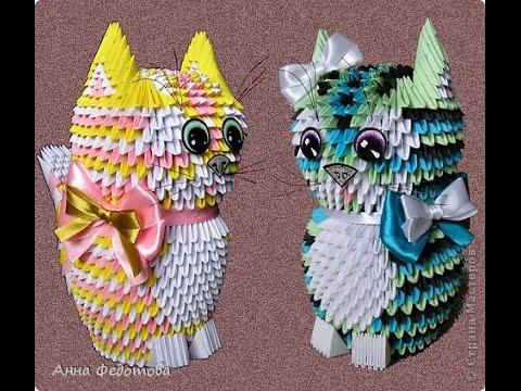 Модульное оригами коты
