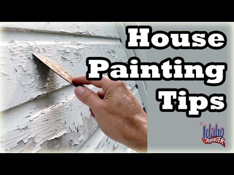 Painting the exterior of a house.  House Painting Tips.  How to paint a house fast.