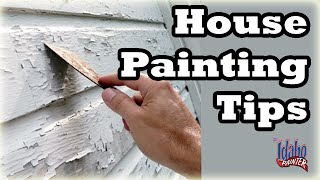 Painting the exterior of a house.  House Painting Tips.
