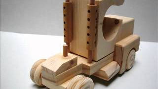 Wooden toy kit - Tractor cab