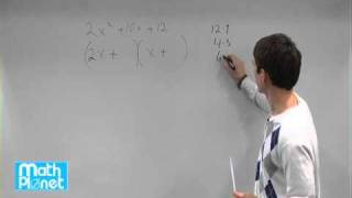 factor polynomials on the form ax 2 bx c