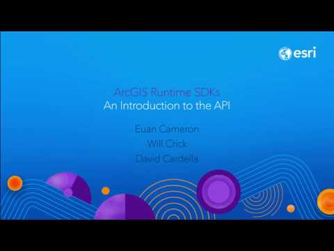 ArcGIS Runtime: an Introduction to the API and Architecture