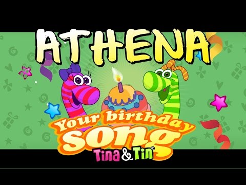 Tina & Tin Happy Birthday ATHENA (Personalized Songs For Kids) #PersonalizedSongs