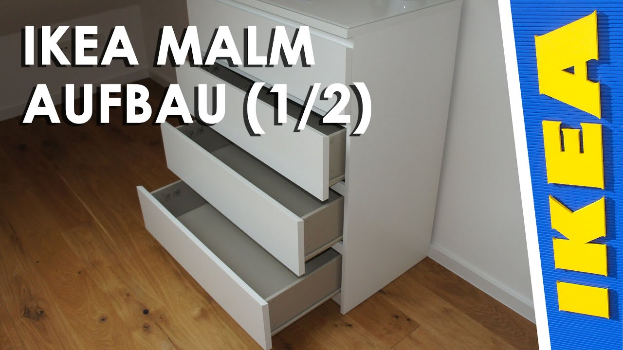 ikea malm kommode aufbau 1 2 youtube. Black Bedroom Furniture Sets. Home Design Ideas