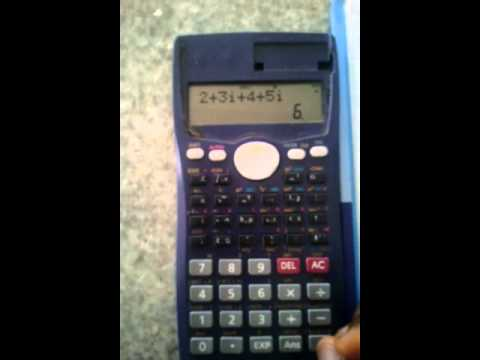Casio Fx 991ms Calculator Tutorial Lesson 5 Dealing With Complex