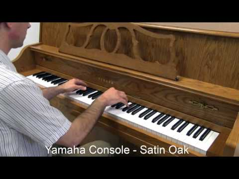 Yamaha console piano oak finish youtube for Yamaha console piano prices