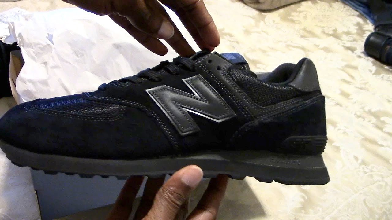 new balance 574 all black