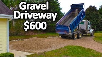Gravel Driveway for CHEAP $600 How to install maintain top with crushed stone asphalt concrete