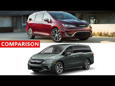 2017 Chrysler Pacifica Vs 2018 Honda Odyssey Comparison - Interior Exterior  Test Drive
