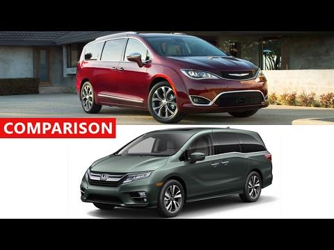 2017 Chrysler Pacifica Vs 2018 Honda Odyssey Comparison - Interior Exterior  Test Drive
