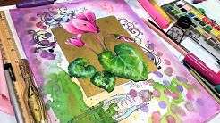 Gold Ink & Watercolor! Let's Paint a Mixed Media Cyclamen!
