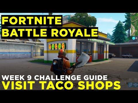 Visit Different Taco Shops In A Single Match - Fortnite Battle Royale Week 8 Challenge Guide
