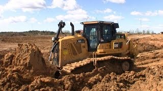 First Cat D7E LGP Dozer In Denmark Pushing Wet Clay