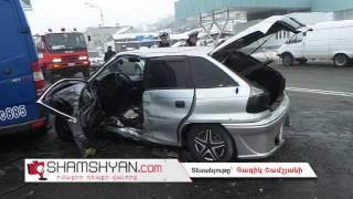 Խոշոր ավտովթար Թբիլիսյան խճուղում  բախվել են Opel ն ու Mercedes Sprinter ը