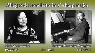 Enrique Granados Campiña (1867-1916) Allegro de concierto in C-shar...