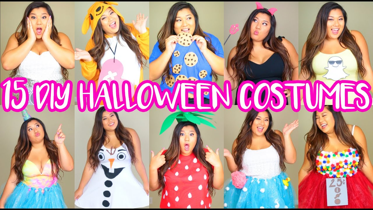 15 DIY Halloween Costumes! Last Minute, Cute & Easy! - YouTube
